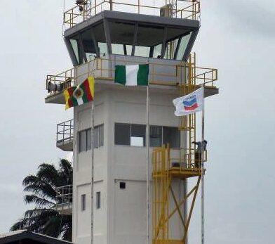 Air Traffic Control tower for a Chevron airfield in Nigeria